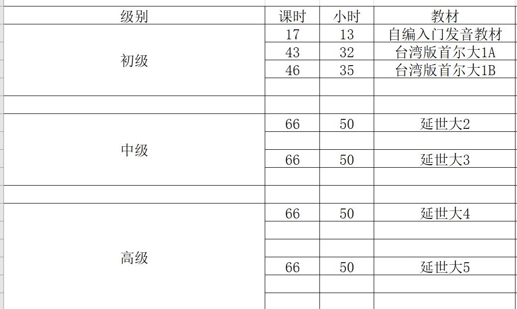 佛山韩语学习课程