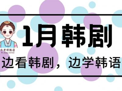 2021年1月新韩剧推荐